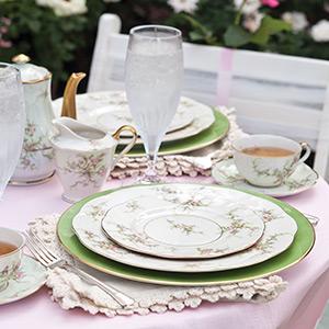 Tea in a Rose Garden