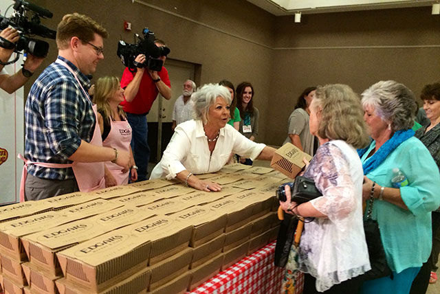 Paula Deen Passing Out LUnches