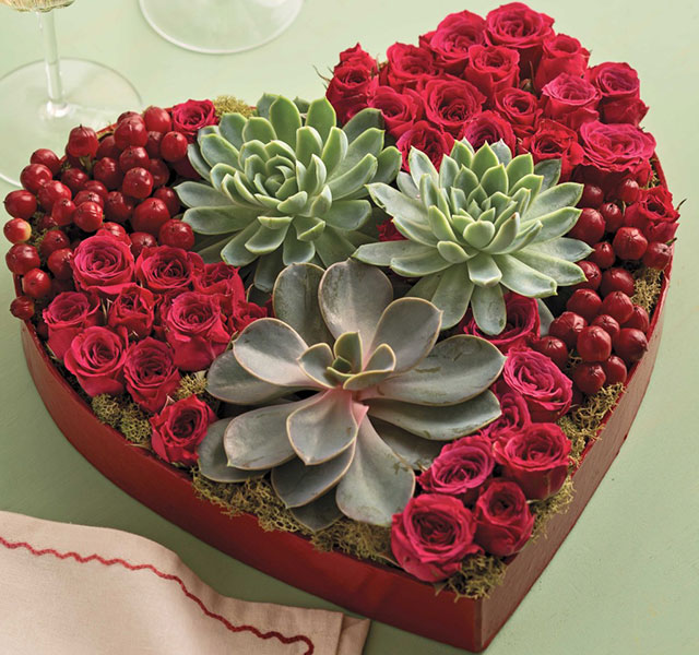 Easy valentine 39 s day gift idea succulents for Valentines day flower ideas