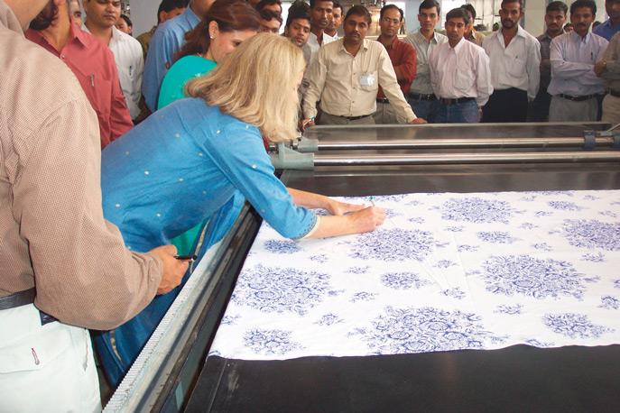 April Cornell in India