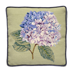 Image of Elizabeth Bradley Home hydrangea needle point pillow