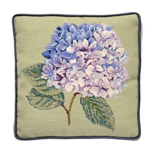 Image of Elizabeth Bradley Home hydrangea needle point pillow