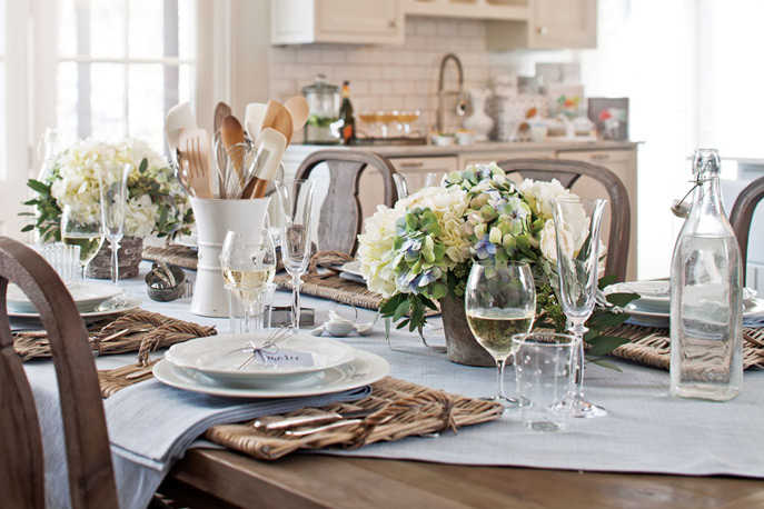 Picture of kitchen bridal shower from Celebrate Magazine