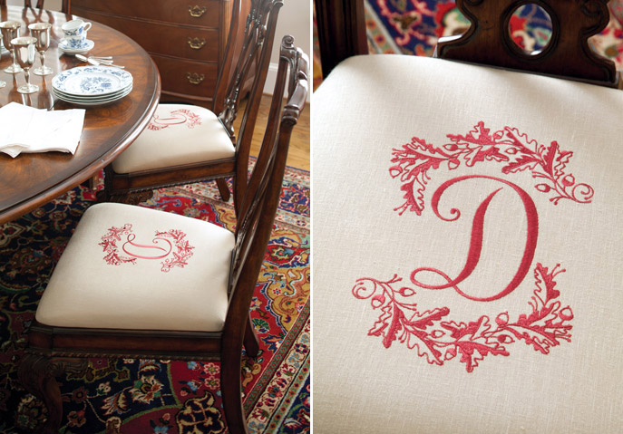 Hobbies - monogrammed chairs
