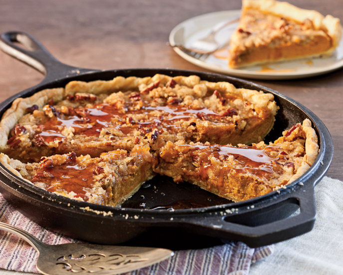 Pumpkin Crumble Pie from Southern Cast-Iron by Hoffman Media
