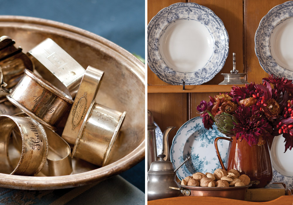 Displays of antiques - Tips for Decorating for Fall