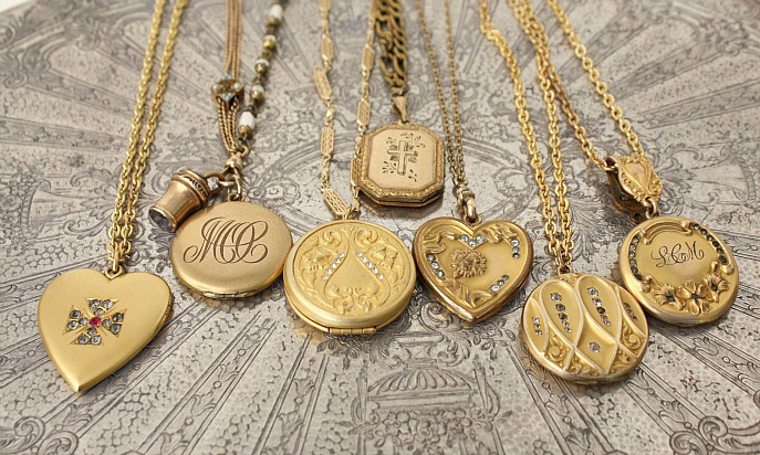 fullxfull brass floral il lockets products gold jacaranda necklace round locket