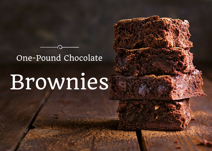 One-Pound Brownies - The Ribbon in My Journal