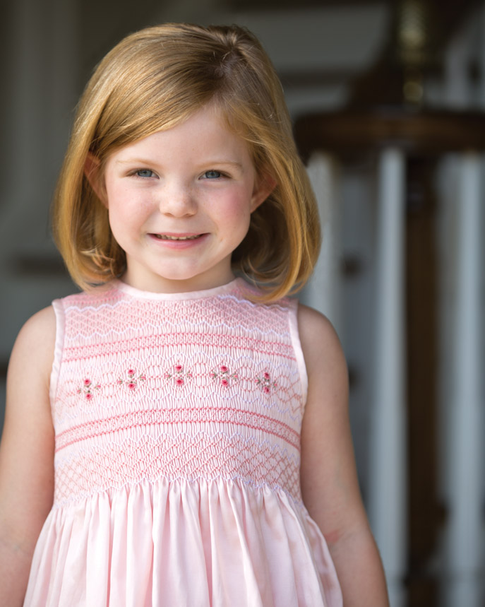 Classic Sewing smocking pink dress