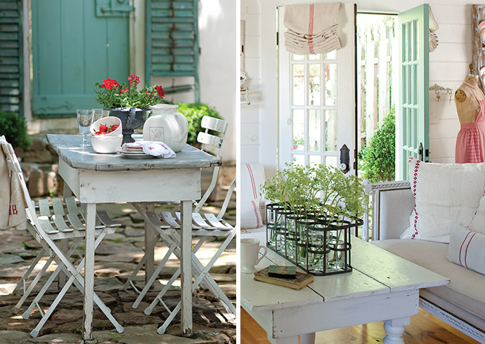 Let french style inspire you the ribbon in my journal for French cottage magazine