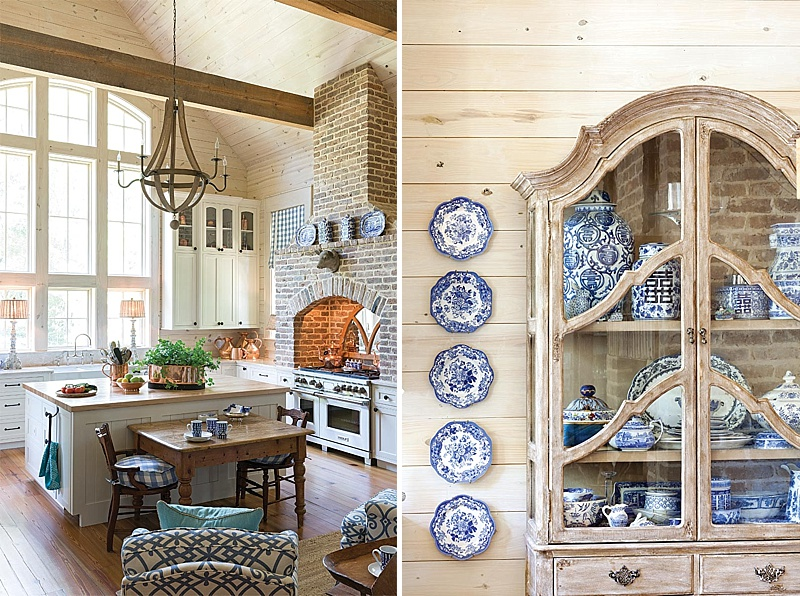 A Heavenly Blue And White Home - Southern Style Spring 2017