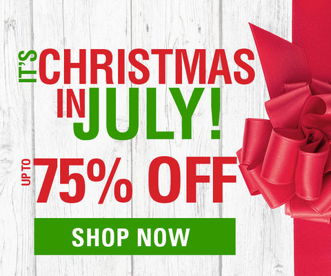 It's Our Annual Christmas in July Sale!