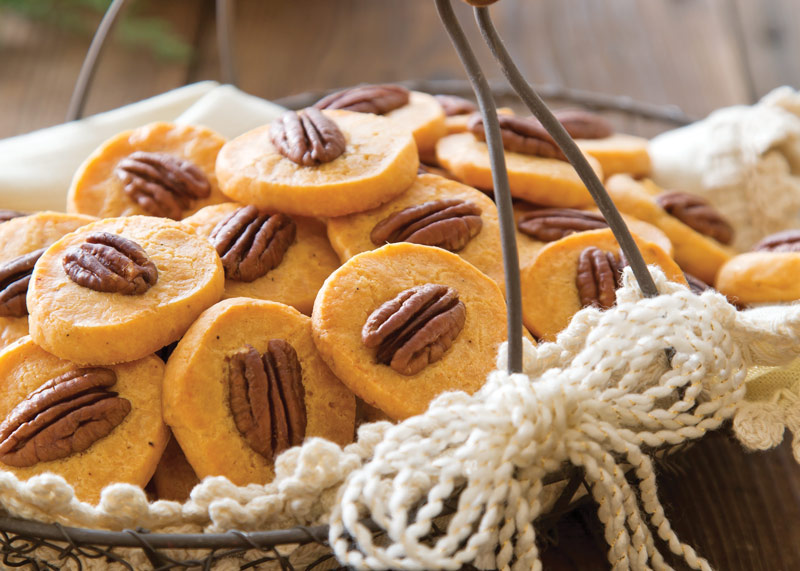 Spiced Pecan Cheese Coins