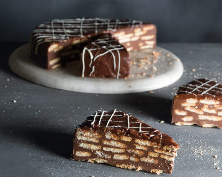 Chocolate Biscuit Cake.