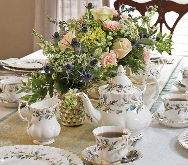 teatime table setting