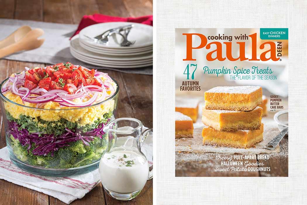 cornbread salad and magazine cover