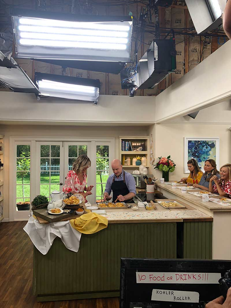 behind the scenes on Hallmark Home & Family