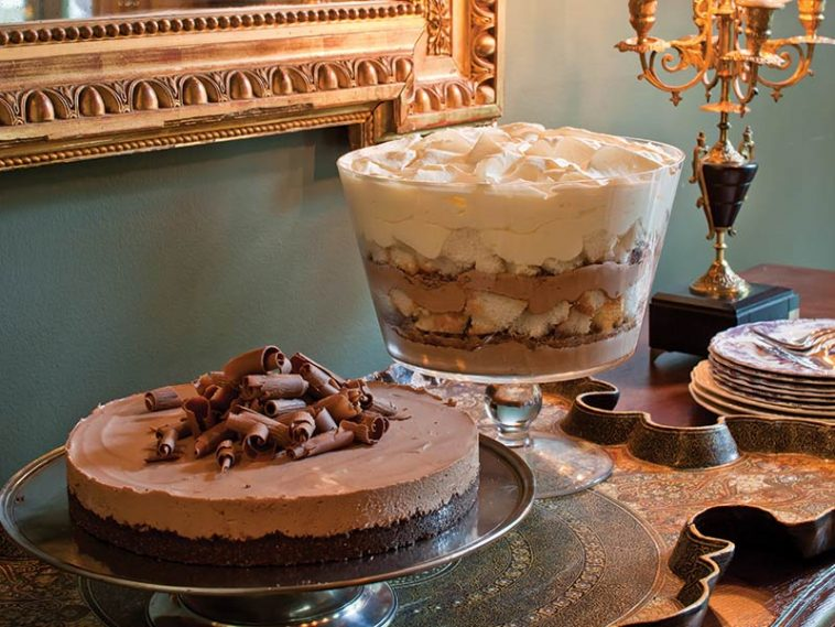 Chocolate pie and trifle