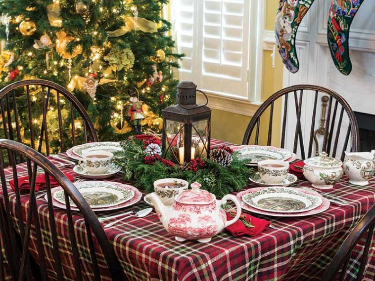 vintage Christmas tea party