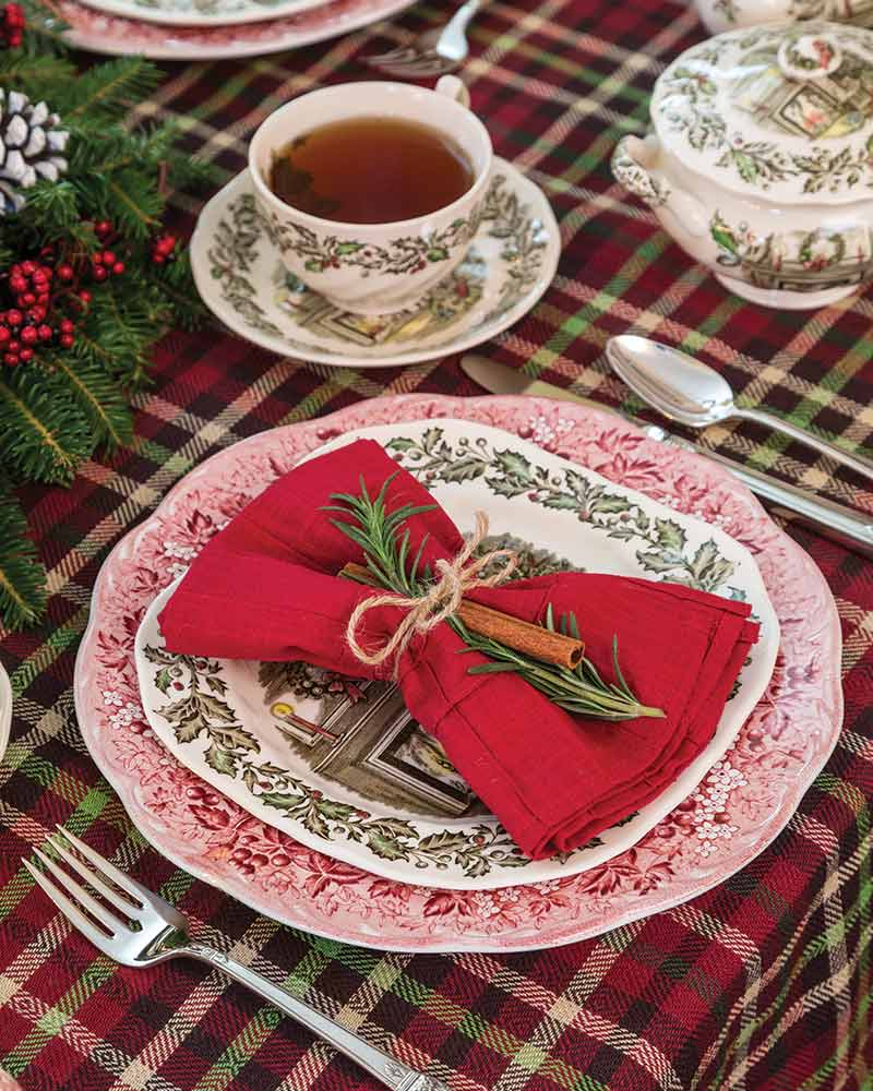 vintage Christmas place setting