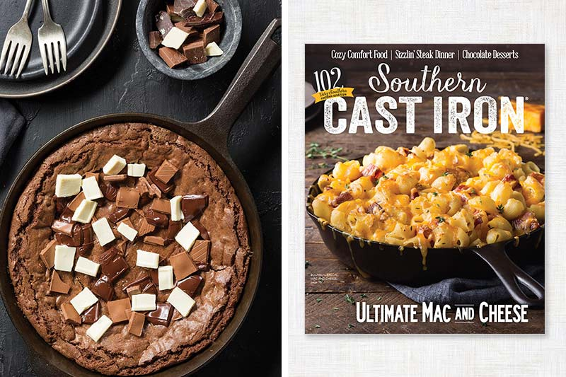 Southern Cast Iron cover and chocolate brownie skillet