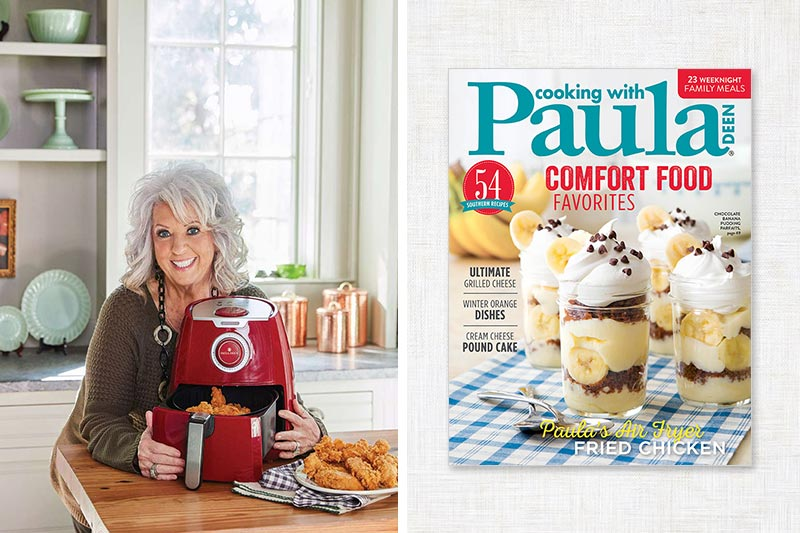Cooking with Paula Deen cover and Paula with an Air Fryer