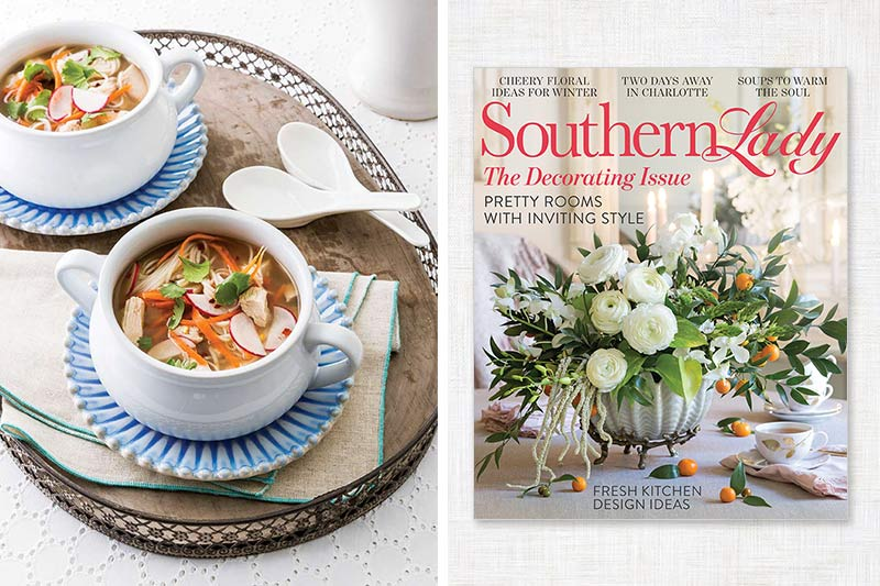 Southern Lady cover and Asian soup