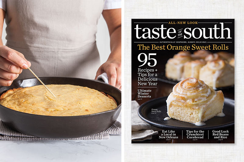 Taste of the South cover and cornbread
