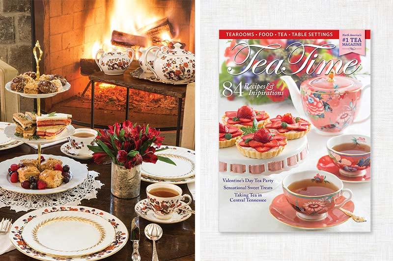 Tea Time cover and fireside tea