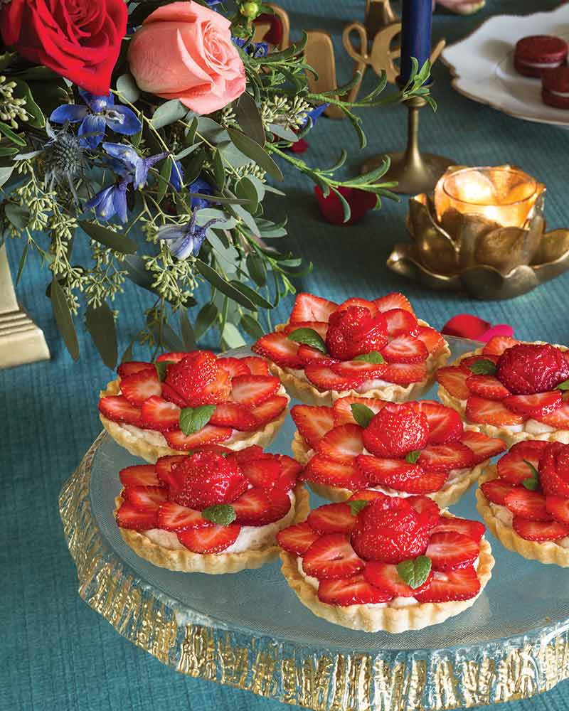 Strawberry & Champagne Mousse Tartlets