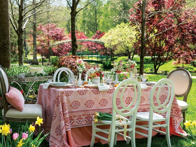 Southern Lady magazine spring tablescape