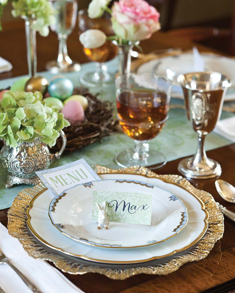 Elegant Easter table setting