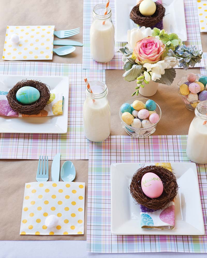 Easter children's table