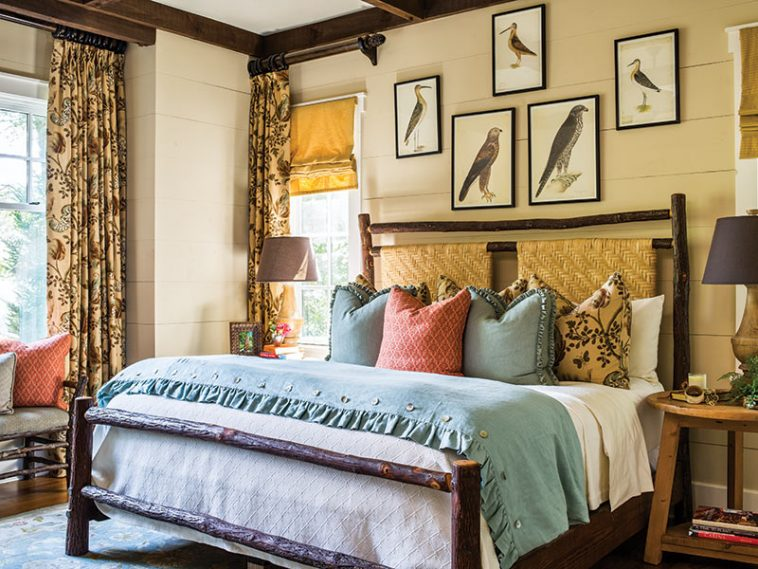 Lonesome Valley cottage master bedroom
